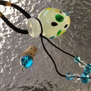 Jewelry - Cremation necklace holds ashes murano glass